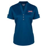 Ladies Ogio Indigo Blue Fashion Henley-Primary Mark