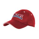 Red Mesh w/White Sandwich Structured Hat-Primary Mark