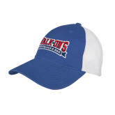 Royal/White Mesh Back Unstructured Low Profile Hat-Primary Mark
