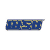 Large Decal-WSU, 12 inches wide