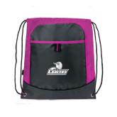 Nylon Pink Raspberry/Deep Smoke Pocket Drawstring Backpack-Primary Mark