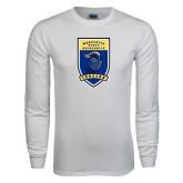 White Long Sleeve T Shirt-Lancer Shield
