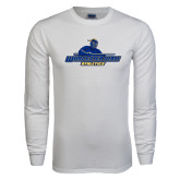 White Long Sleeve T Shirt-Worcester State Athletics