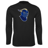 Performance Black Longsleeve Shirt-Lancer Head
