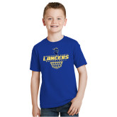 Youth Royal T Shirt-Basketball with Net