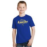 Youth Royal T Shirt-Baseball Laces