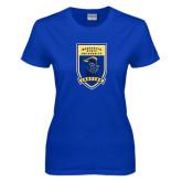 Ladies Royal T Shirt-Lancer Shield