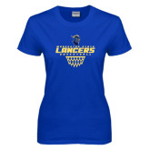 Ladies Royal T-Shirt-Basketball with Net