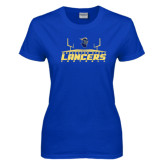 Ladies Royal T-Shirt-Football Field