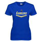 Ladies Royal T-Shirt-Softball Plate