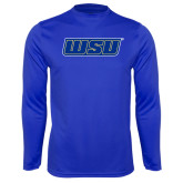 Performance Royal Longsleeve Shirt-WSU