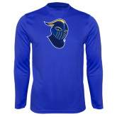 Performance Royal Longsleeve Shirt-Lancer Head