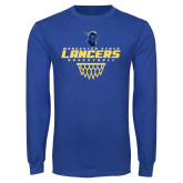 Royal Long Sleeve T Shirt-Basketball with Net