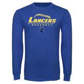 Royal Long Sleeve T Shirt-Baseball Laces