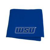 Royal Sweatshirt Blanket-WSU