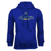 Royal Fleece Hoodie-Worcester State Athletics