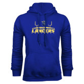 Royal Fleece Hoodie-Football Field