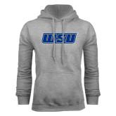 Grey Fleece Hoodie-WSU