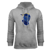 Grey Fleece Hoodie-Lancer Head