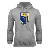 Grey Fleece Hoodie-Lancer Shield