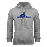 Grey Fleece Hoodie-Worcester State Athletics