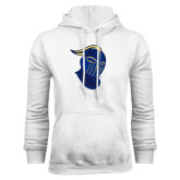 White Fleece Hoodie-Lancer Head