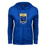 ENZA Ladies Royal Fleece Full Zip Hoodie-Lancer Shield