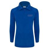 Columbia Ladies Half Zip Royal Fleece Jacket-WSU