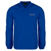 V Neck Royal Raglan Windshirt-WSU