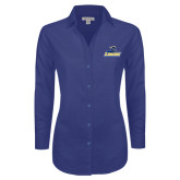 Ladies Red House Diamond Dobby Royal Long Sleeve Shirt-Primary Mark