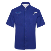Columbia Tamiami Performance Royal Short Sleeve Shirt-WSU