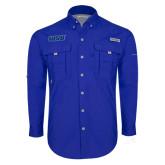 Columbia Bahama II Royal Long Sleeve Shirt-WSU