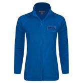 Ladies Fleece Full Zip Royal Jacket-WSU