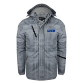 Grey Brushstroke Print Insulated Jacket-WSU
