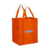 Non Woven Orange Grocery Tote-Official Logo