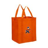 Non Woven Orange Grocery Tote-Mascot