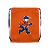 Orange Drawstring Backpack-Mascot