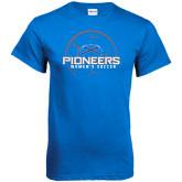 Royal T Shirt-Womens Soccer Ball Design
