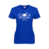 Ladies Royal T Shirt-Stacked Golf Design