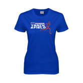 Ladies Royal T Shirt-Track and Field Runner Design