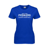 Ladies Royal T Shirt-Womens Basketball