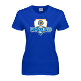 Ladies Royal T Shirt-Mens Soccer Shield