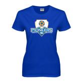Ladies Royal T Shirt-Mens Soccer Shield