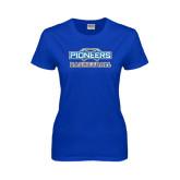 Ladies Royal T Shirt-Pioneers Basketball