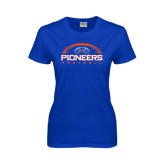 Ladies Royal T Shirt-Football Design