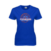 Ladies Royal T Shirt-Volleyball Design