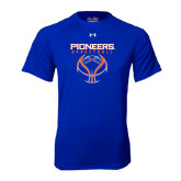 Under Armour Royal Tech Tee-Stacked Basketball Design