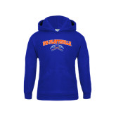 Youth Royal Fleece Hoodie-Arched UW-Platteville