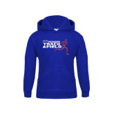Youth Royal Fleece Hoodie-Track and Field Runner Design