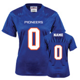 Ladies Royal Replica Football Jersey-Personalized